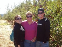 Me, my mom and brother at Apple Hill...